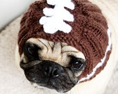 Football Helmet Dog Hat - Football Fan Gift - Pug Hat - French Bulldog Hat - Football Head - Football Hat