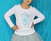 Frozen Inspired Monogrammed Ice Princess Crown Shirt, Ice Princess Monogram Shirt, Ice Princess Applique, Princess Crown Monogram Shirt, LDM