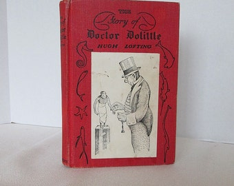 The Story of Doctor Dolittle by Hugh Lofting Vintage Book