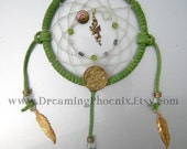 Green & Gold Game of Thrones DRAGON Dream Catcher Reserved for Pachurick