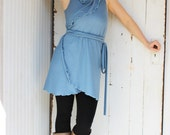 Everyday Wrap Tunic - Organic Cotton Blend - Made to Order - Many Colors Available