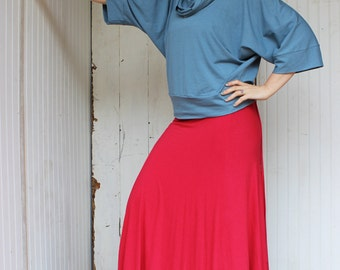Full Length Wrap Skirt (Soy or Bamboo Organic Cotton) - Many Colors to Choose From