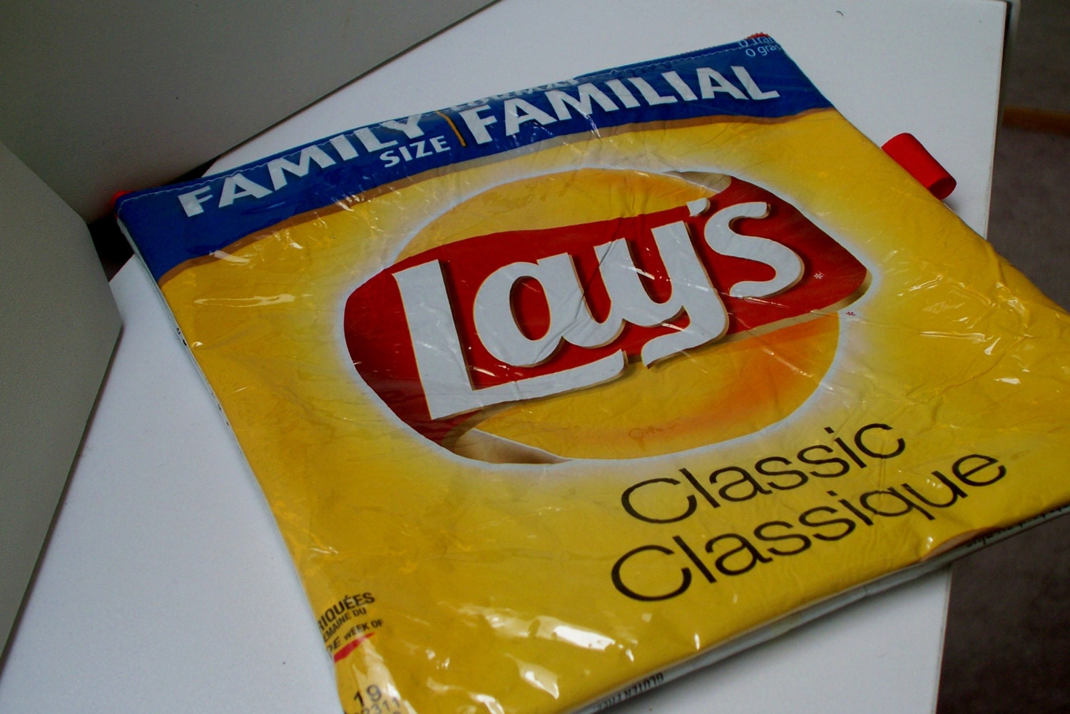 Pencil Case Upcycled From Classic Lays Potato Chip Wrapper