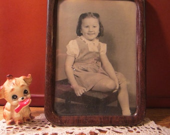 Vintage 1940s Metal Frame and Little Cutie Pie