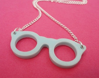 Mint Geek Chic Glasses Necklace
