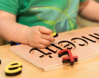 Custom Name Puzzles: Custom Wooden Toy