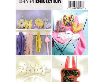 Stuffed Letters Pillow Pattern Butterick 4534 Plush Alphabet Pillow Pattern Childrens & Teen Decor Sewing Pattern 10 Inch UNCUT