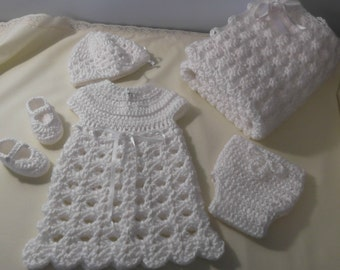 Going Home Baby Girl Layette - dress hat  pull up diaper cover shoes  blanket - made to order