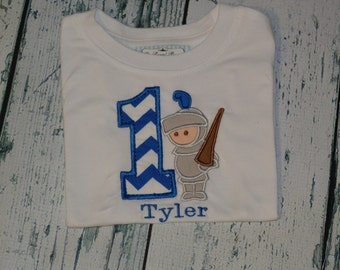 PERSONALIZED Knight Birthday Shirt  Monogrammed Your choice 1-9