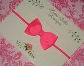 Neon Pink Headband, Neon Baby Hair Bow, Bright Pink Baby Bow, Baby Headband Newborn Headband, Toddler Headband