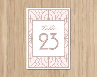 Instant Download - Table Numbers - Buchanan - Gatsby Wedding - Art Deco Wedding