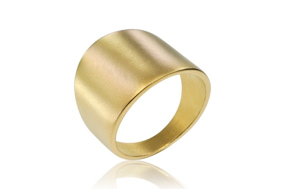 Wedding band 14k geometric ring gold ring by osnatharnoy for Geometric wedding ring