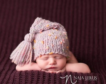 Newborn Hat Girl, Newborn Photo Prop Girl, Baby Stocking Hat, Baby Stocking Cap, Knit Newborn Hat, Newborn Girl Hat, Newborn Winter Hat