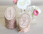 Rustic Birch Table Numbers Laurel Wreath Barn Country Wedding Decor NEW 2014 Design by Morgann Hill Designs