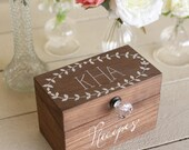 Personalized Wood Recipe Box Monogrammed Bridal Shower Gift  (Item number MMHDSR10022)