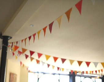 big felt bunting by the metre . YOUR CHOICE of colour and length . price per metre .
