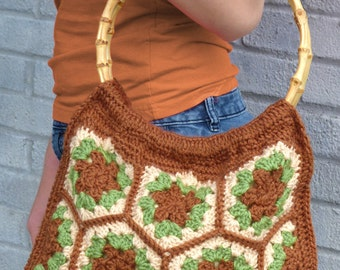Verdant Hexagon Bag - PDF Crochet Pattern - Instant Download