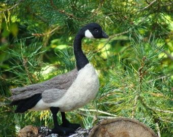 MADE TO ORDER - Needle Felt Canada Goose Soft Sculpture by Bella McBride
