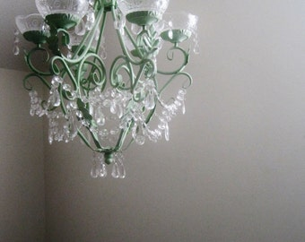 Prim and Proper Cottage Style Candle Chandelier MADE TO ORDER