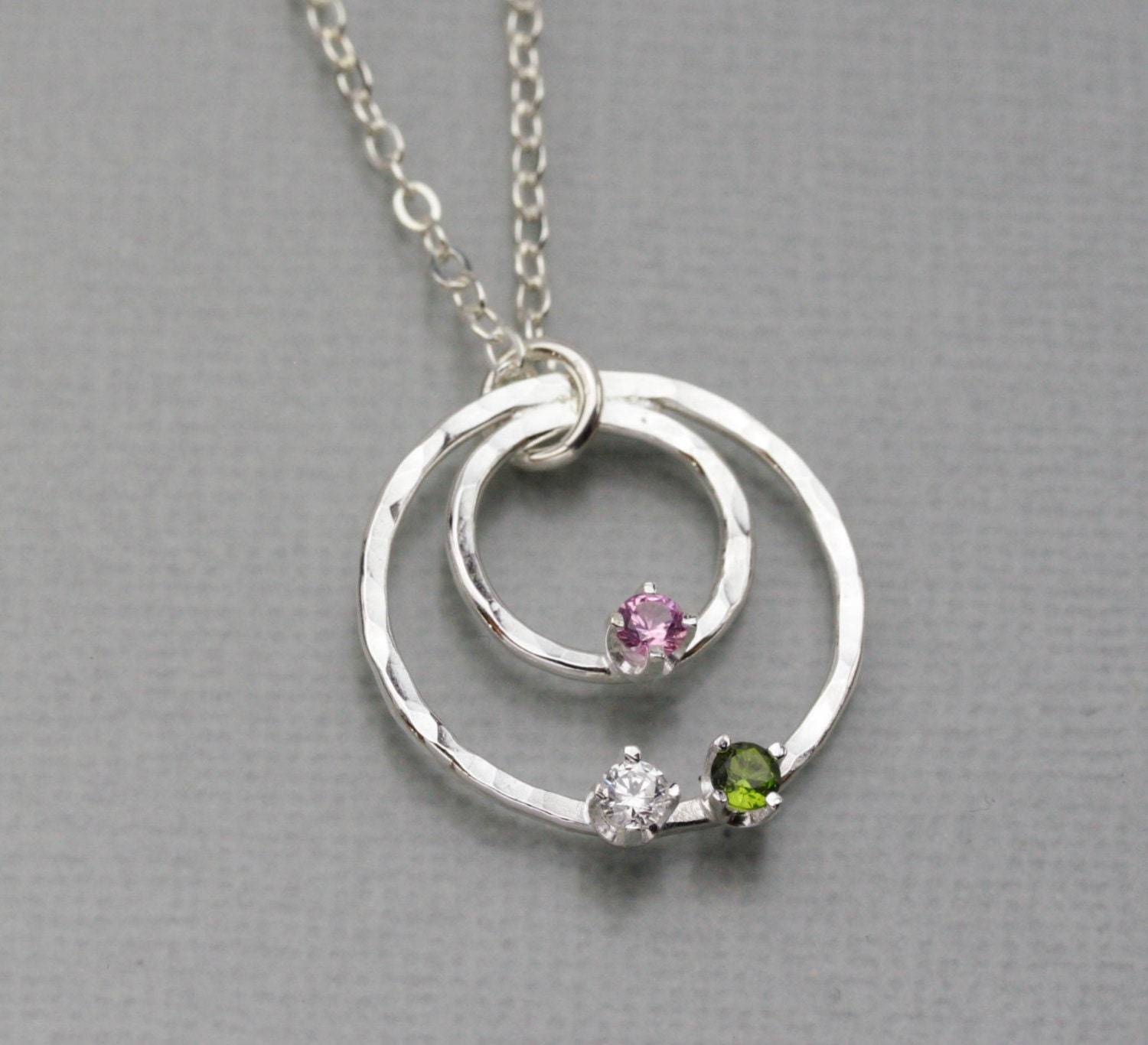 birthstone necklaces that you can add to