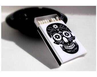Sugar Skull Matchbox Matches / Day of the Dead / Dia de los Muertos