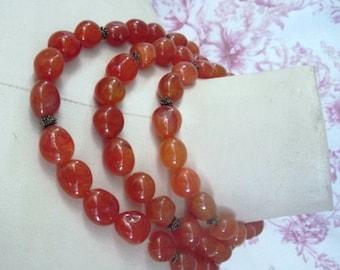 Genuine Carnelian 3 Strands Necklace
