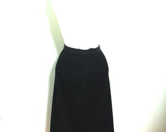 Vintage 50s Skirt Black Tight Pinup Pencil Skirt S - on sale