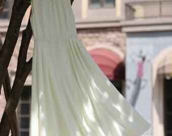 Woman maxi dress long dress in cream  (1004)