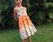 Girls Handmade Sun Dress Palace Paisley 6mos to 9/10