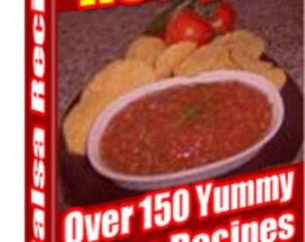 Over 150 Salsa Recipes Cookbook Instant Digital Download, Food, Eating, Kitchen