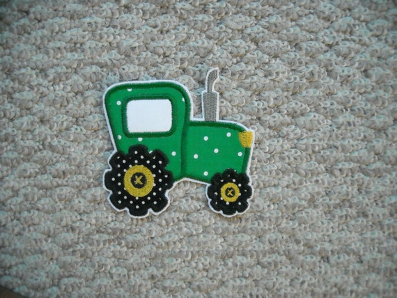RESERVE for Brittany      Tractor    Fabric iron on applique      Free Shipping U.S.A. ready to ship