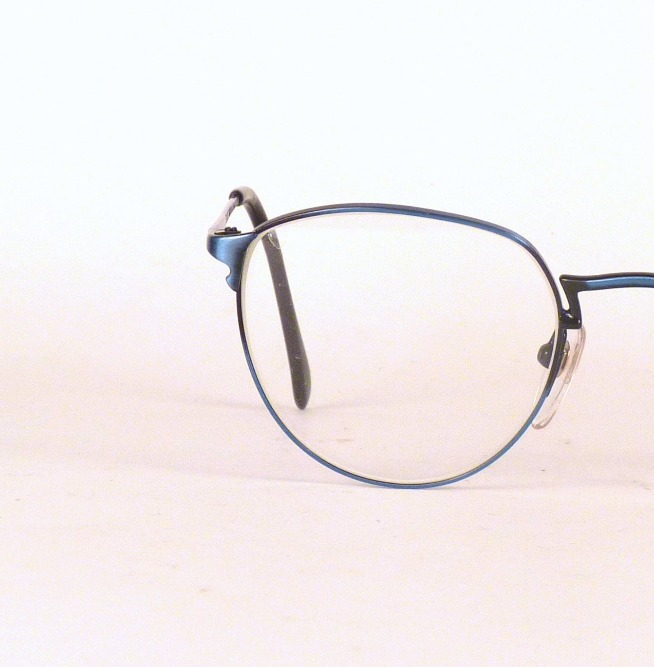 Aqua Blue Glasses Frames : Vintage Eyeglasses / Turquoise Eye wear / Unisex eyeglasses