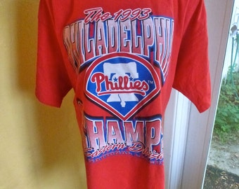 Philadelphia Phillies 1993 Eastern Division Champs vintage baseball tee - size xlarge
