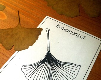 In memory of Booklabels Ginkgoleaf 50 Personalized Ex Libris Bookplates