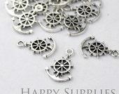 10pcs Antiqued Silver Anchor Charm / Pendant (5037)