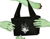 Maleficent Sleeping Beauty Villain Voodoo Sugar Black Zippered Insulated  Cooler Tote Bag