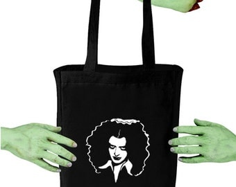 Voodoo Sugar Rocky Horror Picture Show Magenta RHPS Black Tote Bag