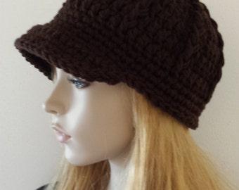 Newsboy Hat, Brim Hat, Visor Hat, Baseball Driver Cap Hat, Visor Newsboy Hat, Brim Hat, Visor Hat, All Seasons GIFT Brim Hat, Brim Chemo HAT
