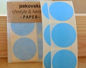 50 blue paper circle stickers, round shaped label, medium sized, 35mm, geometric shape, gift decoration, birthday supplies, envelope seals