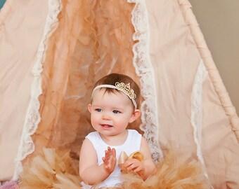 Birthday Tutu | 1st Birthday Tutu Dress | Baby Birthday Tutu | Cake Smash Tutu | Tutu Skirt | Gold Birthday Tutu | 1st Birthday Tutu