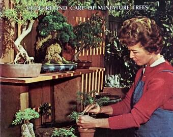 1974 BONSAI Culture and Care of Miniature Trees SUNSET Book