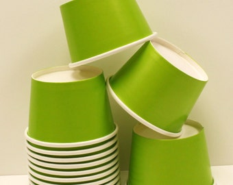 Paper Cups, 10 Green 12. oz. Ice Cream Cup, Paper Cup, Yogurt Cups, Green Cups Wedding  Buffet, Ice Cream Bar, Party Food Cups, Dessert Cups