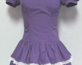 Cute Dropped Waist Lolita Cosplay Costume Size 4 6 8 10 12 14 - Customizable Color