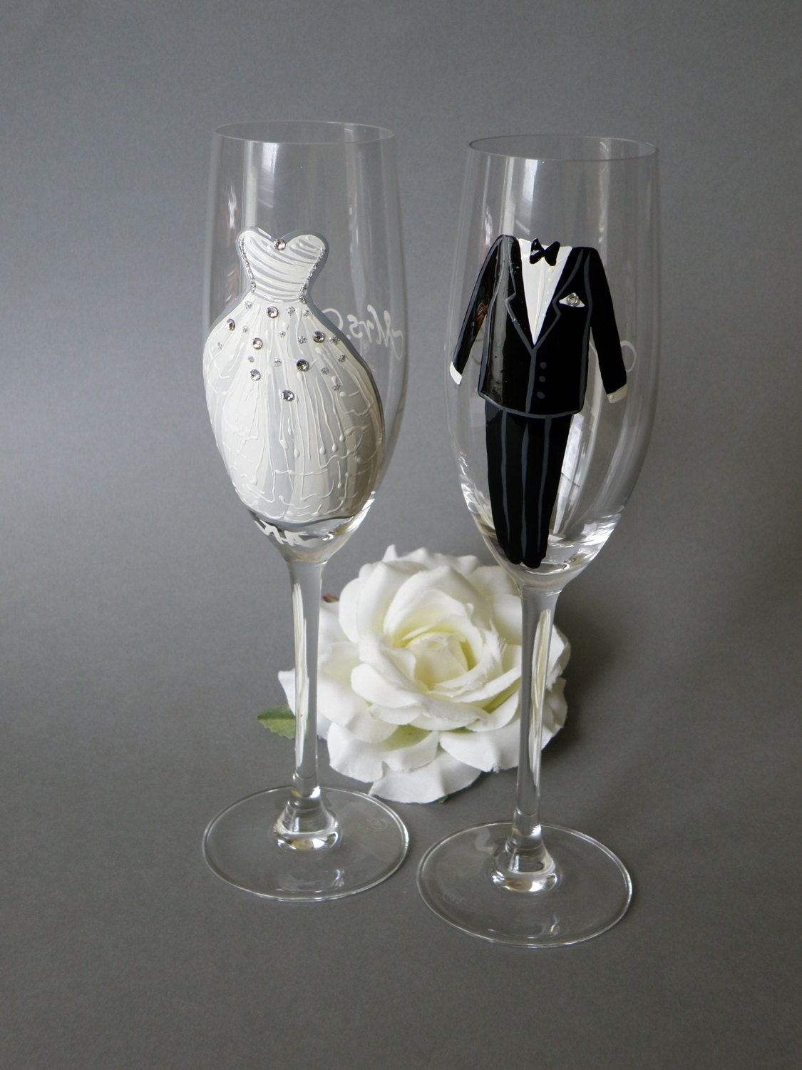 Price Hand Painted Wedding Toasting Flutes Set Of 2