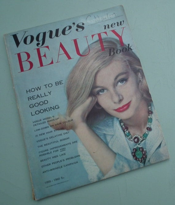 Vogue's New Beauty Book 1959 1960 Vintage Vogue By