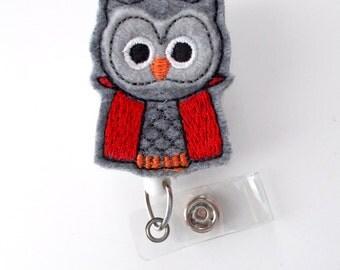 Halloween Owl - Unique ID Badge Reel - Name Badge Holder - Cute Badge Reel - Nurse Badge Holder - Nursing Badge Clip - Felt Badge