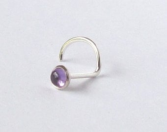 Tiny Amethyst Nose Stud 2mm Nose jewelry SPECIAL SALE