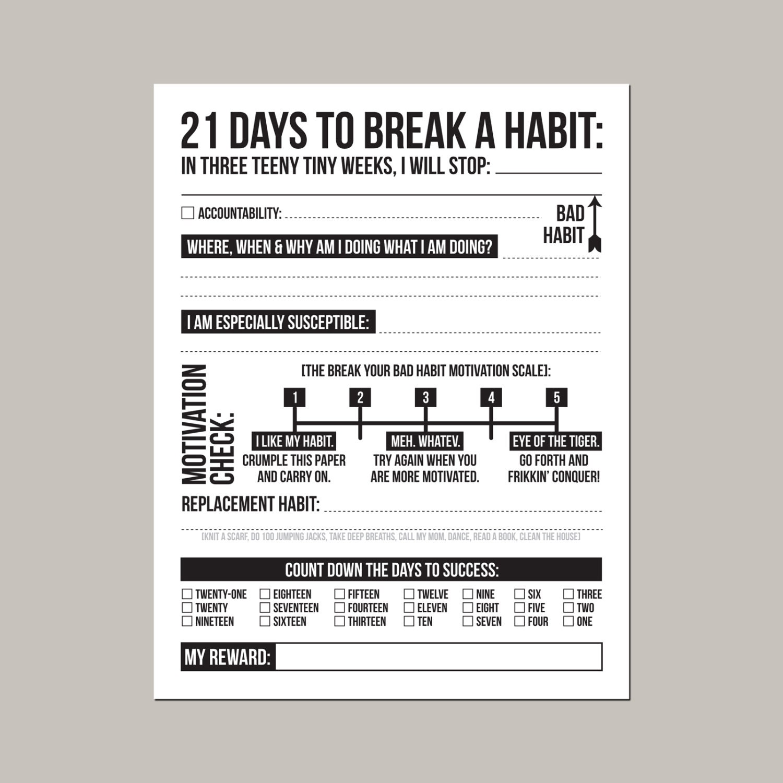 21 days to break a bad habit printable pdf sheet zoom robcynllc Gallery