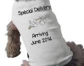 Pregnancy Announcement - Dog T-Shirt - Pregnancy Announcement Dog TShirt - Custom - Pet Graphic Tee