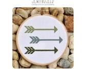 Arrows Cross Stitch Pattern Instant Download